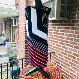 Bailey 44 Striped Color Block Dress